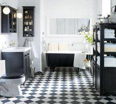 Schackmatt | Svart-vitt badrum | Aftonbladet