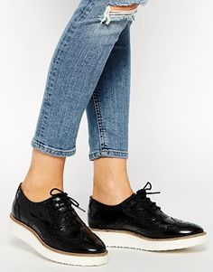 ASOS - MARVELLOUS - Chaussures richelieu à plateforme en cuir