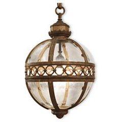 "Jordan Global Bazaar Round Antique Brass Pendant 1 Light Lantern - 16.5""D | Kathy Kuo Home"