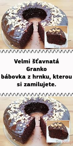 Velmi šťavnatá Granko bábovka z hrnku, kterou si zamilujete. Sweet Desserts, Sweet Recipes, Czech Recipes, Beef Bourguignon, International Recipes, Cheesecakes, Food Art, Food And Drink, Cooking Recipes