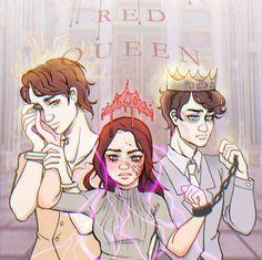 Red Queen Book Series, Red Queen Victoria Aveyard, King Cage, Queen Aesthetic, Fanart, Queen Art, Book Wall, Book Memes, Hessian