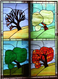 stained glass four seasons - Google Search