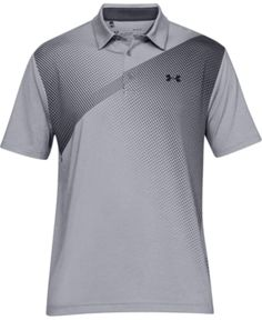 Under Armour Men's Shoulder Striped Playoff Polo - Steel XL Polo T Shirts, Golf Shirts, Crew Shop, Black Polo Shirt, Slogan Tee, Sporty Look, Under Armour Men, Baby Clothes Shops, Sport Outfits