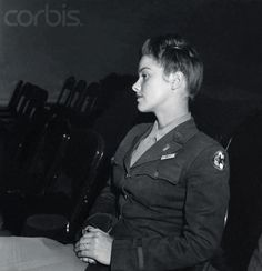 Lt. V. Rhodes of the WAAC, the Women's Army Auxiliary Corps, at Fort Oglethorpe.