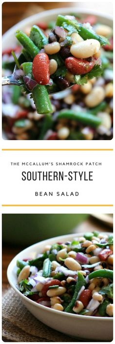 This sweet yet Tangy Southern-Style Bean Salad is the perfect side dish for potlucks, Church gatherings, and family picnics. It's a super easy recipe to make; combining fresh flash steamed gr…