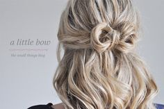 a little bow hair tutorial