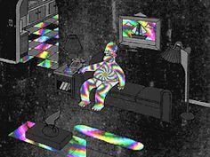 gif trippy drugs weed marijuana lsd 420 the simpsons simpsons homer simpson acid psychedelic colors dmt trippy gif simpsons gif psychedelic gif