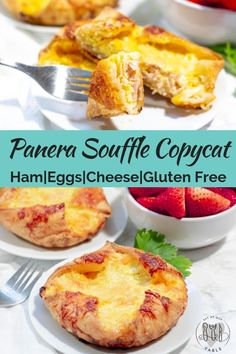 Copycat version for gluten free Panera souffle is perfection. A gluten free breakfast souffle stuffed with cheese, ham & eggs with a flaky pastry crust. Breakfast Desayunos, Breakfast Dishes, Breakfast Recipes, Breakfast Pastries, Brunch Recipes, Gourmet Recipes, Cooking Recipes, Copycat Recipes, Gluten Free Breakfasts