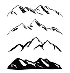 Mountain ranges vector 296797 - by soleilc on VectorStock®