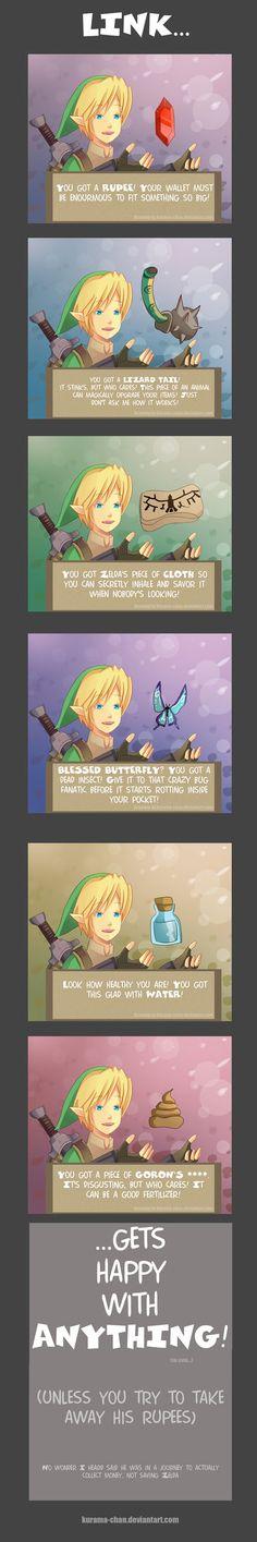 -- Zelda: Link and the items -- by *Kurama-chan on deviantART
