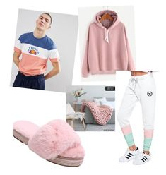 """& chill"" by frederiquedekeijzer ❤ liked on Polyvore featuring ellesse, WithChic and Victoria's Secret"