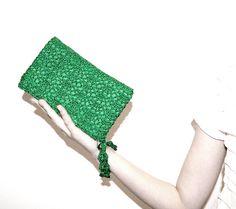 Emerald Green Clutch Bag Emerald Green Purse by KeraSoftwear