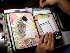 My Design Mini Album Part 2 of 2 How to decorate you pages - YouTube