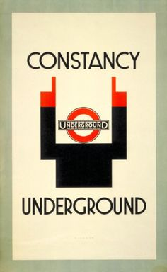 Constancy by Julius Klinger, Vintage London Underground Poster London Underground, London Transport Museum, Museum Poster, London Poster, London Bus, Lego London, British Travel, Information Poster, Railway Posters