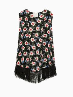 Floral Sleeveless Blouse With Tassels | Choies