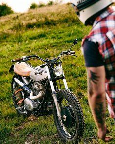 klassikkustoms: Another great shot by @motorrausch #motorcycles #scrambler #motos | caferacerpasion.com