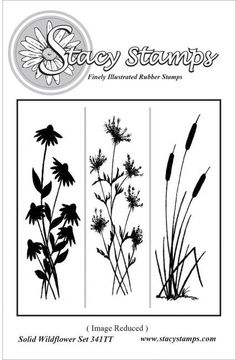Solid Wildflowers - Cling Rubber Stamp