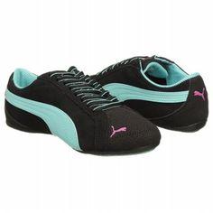 Athletics Puma Women s Janine Dance Flower Blk Pool Blue Rose Shoes.com Blue 8585864af