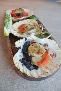 We will be trying this Cornish King Scallops and Black Pudding recipe this weekend via @seasaltclothing