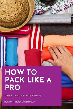 Traveling carry on only can save you money, time, and stress. Learn what to pack and what to leave at home with my guide to what to pack for a trip, and get my free packing checklist. Travel Packing Checklist, Printable Packing List, Carry On Packing, Packing Tips, Air Travel Tips, Travel List, Orlando Travel, Best Money Saving Tips, Packing Light