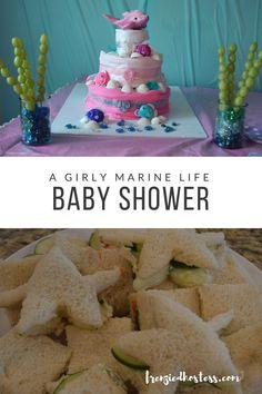 3e26ef992 A Girly Marine Life Baby Shower. Decoración De ...