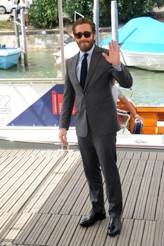 #FerragamoVip | Actor #JakeGyllenhaal wears head to toe #Ferragamo at the Venice Film Festival. #Venezia72