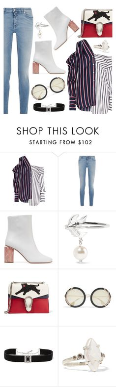 """Street Style"" by dressedbyrose ❤ liked on Polyvore featuring Monse, Givenchy, Acne Studios, Miu Miu, Gucci, Alice + Olivia, Kenneth Jay Lane, Chan Luu, StreetStyle and ootd"