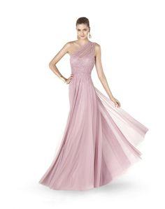 Pronovias Evening Dress / Gown - Beaded long dress with V neck ...