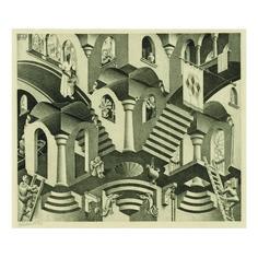 M. C. ESCHER | CONVEX AND CONCAVE (B./K./L./W. 399) | Prints & Multiples Day Sale | Sotheby's Escher Kunst, Mc Escher Art, Mathematical Drawing, Linocut Prints, Art Prints, Block Prints, Romeo Y Julieta, Between Two Worlds, Melbourne