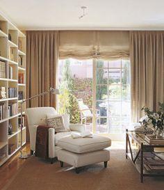 Ideas for bedroom cosy corner bookshelves Interior Design Living Room, Living Room Decor, Bedroom Decor, Home Office Design, House Design, Corner Bookshelves, Bookcase, Cuisines Design, Trendy Bedroom