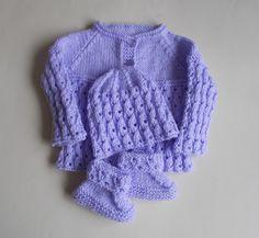 marianna's lazy daisy days: Lilac Blossom Baby Set