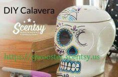 DIY Calavera Warmer! How awesome is this?! Follow me on Facebook to see more: Scentsy with Stephanie, Independent consultant or fine it at my website. Https://sjwooster.scentsy.us