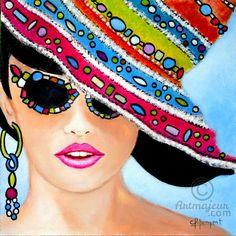 GLAMOUR Nº 9 (Carmen G. Junyent) Art Pop, Michael Jackson Painting, Salon Art, Baby Painting, Art For Art Sake, Glamour, Female Art, Comic Art, Art Drawings