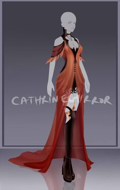 [closed] - Outfit Adopt 729 by CherrysDesigns on DeviantArt Anime Outfits, Dress Outfits, Cool Outfits, Dress Drawing, Drawing Clothes, Fashion Design Drawings, Fashion Sketches, Fashion Art, Fashion Outfits