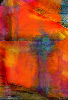 Orange - Abstract Digital Painting Art Print