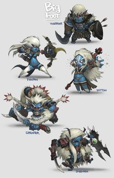 characters by Lee Deok Soo  #gamedev #gameart