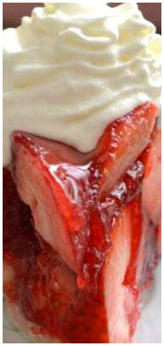 The BEST Strawberry Pie ~ Fresh strawberries mounded high in a rich, buttery crust. A little (or big) slice of delicious....perfect for summer!