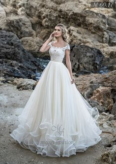 Buy discount Glamorous Tulle Jewel Neckline A-line Wedding Dress With Beaded Lac. Buy discount Glamorous Tulle Jewel Neckline A-line Wedding Dress With Beaded Lace Appliques & Ruffles at Ailsabridal Elegant Wedding Dress, Dream Wedding Dresses, Bridal Dresses, Wedding Gowns, Tulle Wedding, Wedding Dress For Short Women, Wedding Dresses With Ruffles, Wedding Sundress, Modest Wedding