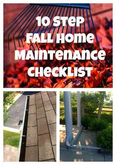Cooler weather will be here before we know it! Use this 10 Step Fall Home Maintenance checklist to get your home ready.