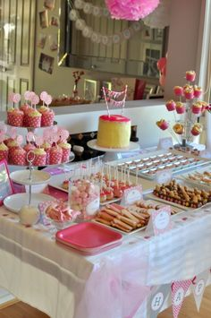 A pretty pink first Birthday party