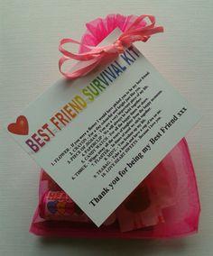 BEST FRIEND Survival Kit Birthday Keepsake Gift Present Christmas Fun Novelty | eBay