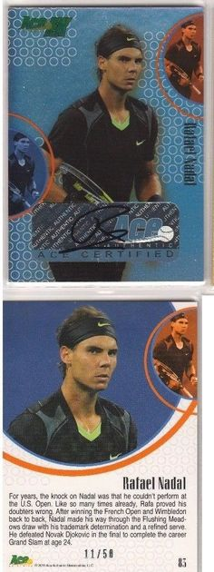 Tennis Cards 43371: Ace Authentic 2011 Ace Ex Rafael Nadal 11 50 Auto Autograph Signature Rare -> BUY IT NOW ONLY: $184.99 on eBay!