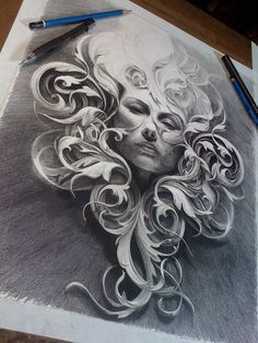 girlintheverse: I was always arguing with my profs about using graphite as a medium. They hated it and endlessly discussed how limited it is and how superior charcoal, paint, and conte' are. WELL HA! Just look at this beauty (totally NOT my art). PS: If anyone has ANY idea who this beautiful work belongs to, please inform me. I would love to give this image the credit it deserves again.