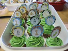 Jungle Themed Baby Shower Cupcake Toppers set of by CowansCrafts, $8.50