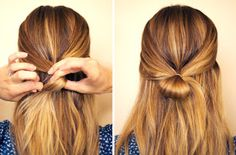 Hey divas, I have a great hair tutorial for you today. Your Step-by-Step for the Best Cute Hairstyles. Half Updo Hairstyles, Pretty Hairstyles, Straight Hairstyles, Hairstyles Haircuts, Bow Hairstyle Tutorial, Bow Tutorial, Hair Styles 2014, Hair Images, Great Hair