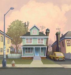 60 Ideas House Illustration Design Art Of Animation Building Illustration, House Illustration, Illustrations, Digital Illustration, Landscape Illustration, Cartoon Background, Animation Background, Art Background, Street Background