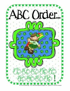 St+Patrick's+Day+ABC+order+from+Mrs.+Bainbridge's+Shop+on+TeachersNotebook.com+-++(10+pages)+