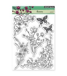Penny Black Clear Stamps-Florets