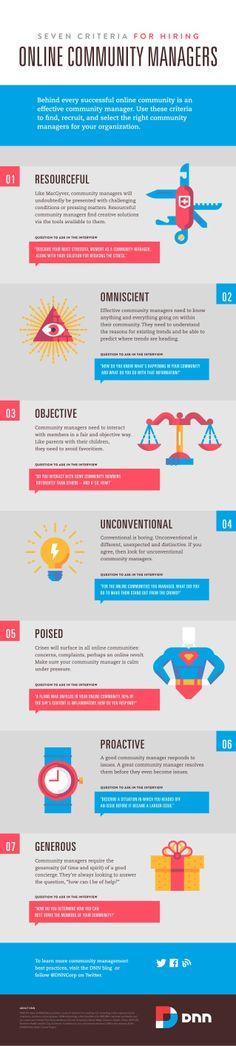 7 criterios para contratar Community Manager #infografia