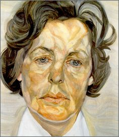 Created when the lady was 40. At 70, she said during her birthday party that she had grown into her painting. Lucien Freud